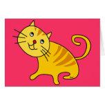 Shy Cat Blank Card