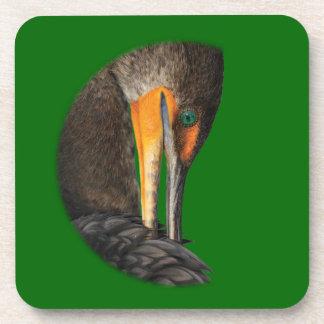 Shy Cormorant Drink Coasters