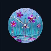 Shy Daisies Clock