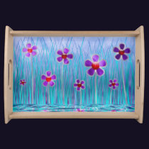 Shy Daisies Serving Tray
