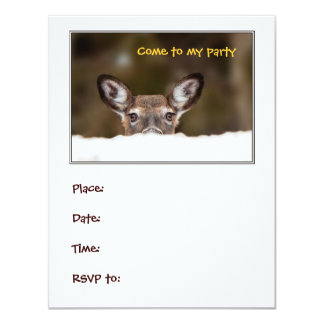 Shy deer - party invitation