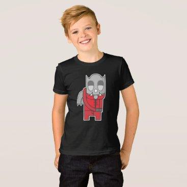 Halloween Themed Shy Devil Illustration T-Shirt
