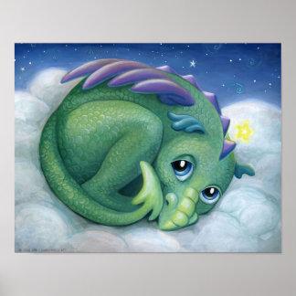 Shy Dragon Poster