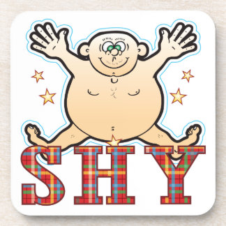 Shy Fat Man Beverage Coaster