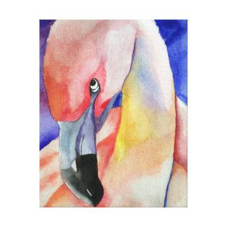 Shy Flamingo (Kimberly Turnbull Art) Canvas Print