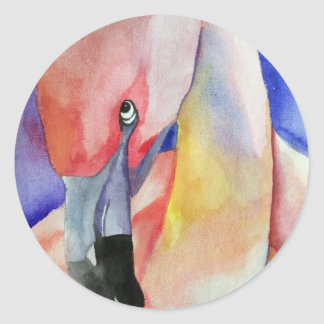 Shy Flamingo (Kimberly Turnbull Art) Classic Round Sticker