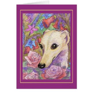 Shy Flower Whippet Card