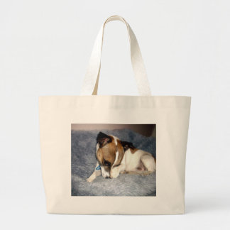 Shy_Fox_Terrier,_ Large Tote Bag
