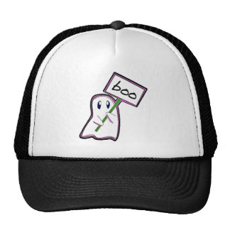 "Shy ghost holding ""Boo"" -Sign (Pink Version) Trucker Hat"