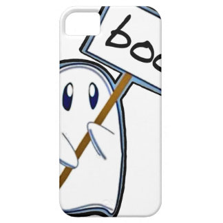 """Shy ghost with """"Boo"""" sign (Blue Version) iPhone 5 Cases"""
