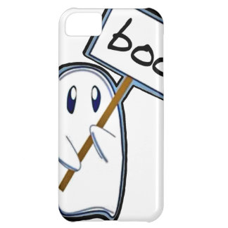 "Shy ghost with ""Boo"" sign (Blue Version) Case For iPhone 5C"