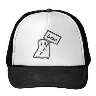 "Shy ghost with ""Boo"" sign (Blue Version) Trucker Hat"