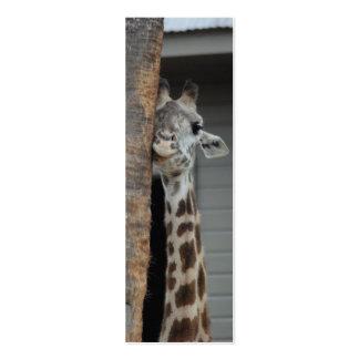 """""""Shy Giraffe"""" Bookmark Business Cards"""