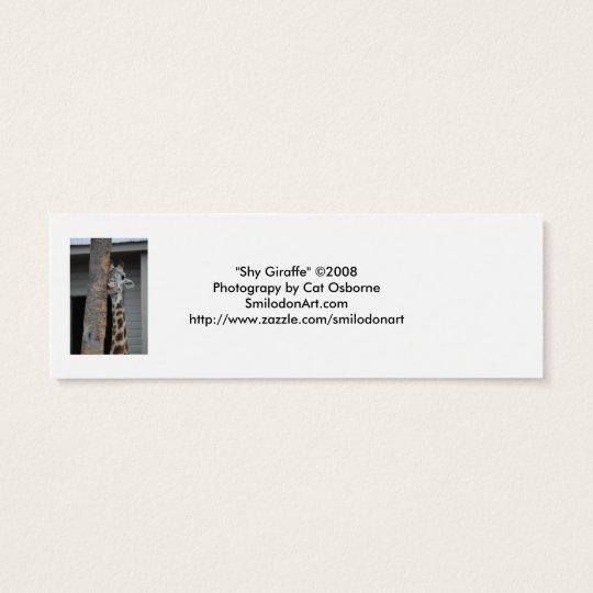 """""""Shy Giraffe"""" Bookmark Mini Business Card"""
