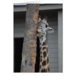 """Shy Giraffe"" Greeting Card"