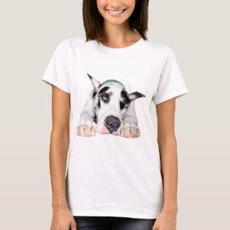 Shy Harlequin Great Dane T-Shirt