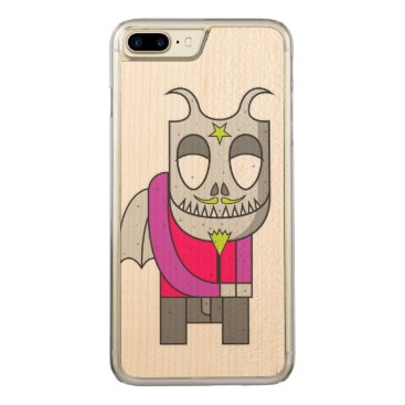 Halloween Themed Shy Little Devil Carved iPhone 7 Plus Case