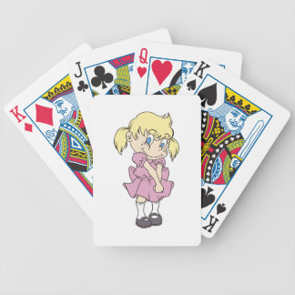 SHY LITTLE GIRL BICYCLE PLAYING CARDS