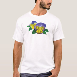 Shy Little Pansy Mens T-Shirt