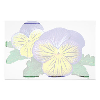 Shy Little Pansy Stationery