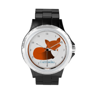 Shy Little Red Fox Personalized Watches