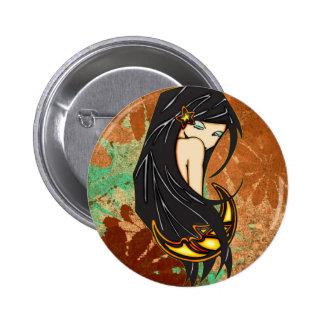 Shy Moonlight Maiden 2 Inch Round Button