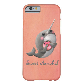 Shy Narwhal with Donut Barely There iPhone 6 Case