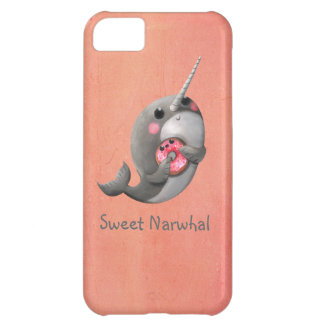 Shy Narwhal with Donut iPhone 5C Case