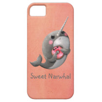 Shy Narwhal with Donut iPhone SE/5/5s Case