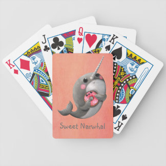 Shy Narwhal with Donut Bicycle Card Deck
