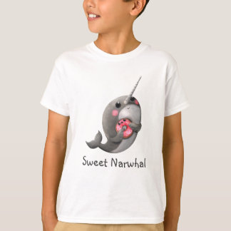 Shy Narwhal with Donut T-Shirt