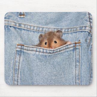 shy peekaboo mouse pad