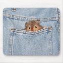shy peekaboo mousepad