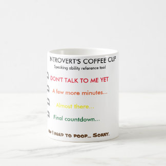Shy person's coffee cup