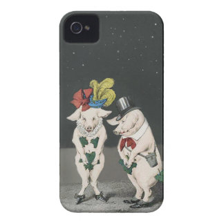 Shy Pigs on a Starry Night iPhone 4 Case-Mate Cases