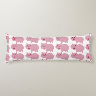Shy Pink Pig Body Pillow