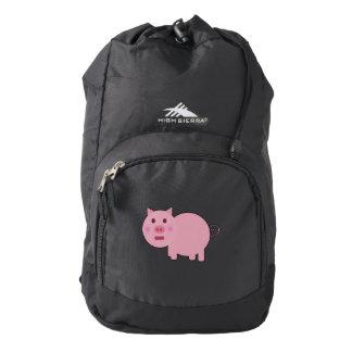 Shy Pink Pig High Sierra Backpack