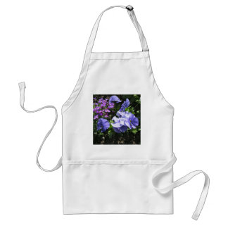Shy Purple Pansies Apron
