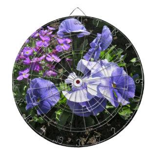 Shy Purple Pansies Dart Board