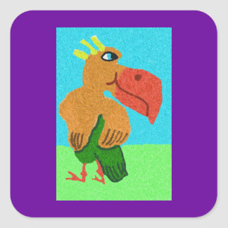 Shy Sigmund Square Sticker