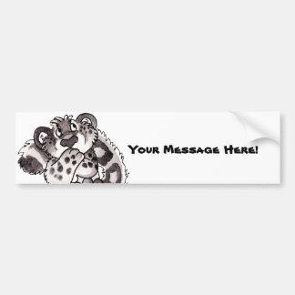 Shy Snow Leopard Cub Bumper Sticker