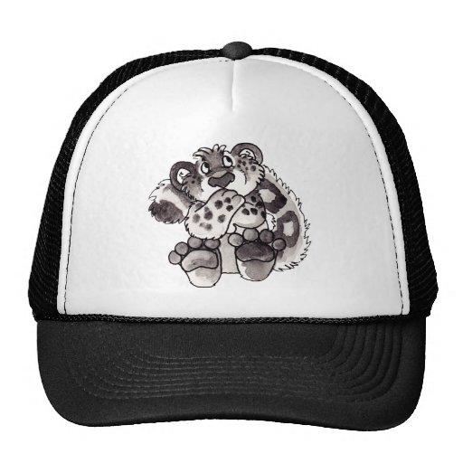 Shy Snow Leopard Cub Hat