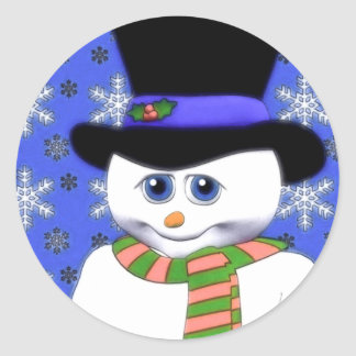 Shy Snowman Holiday Stickers
