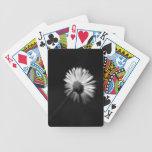 Shy white daisy bicycle poker deck