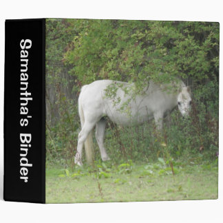 Shy White Horse Custom Binder