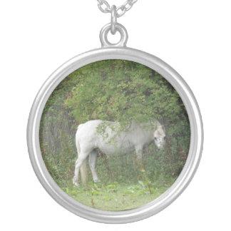 Shy White Horse Necklace