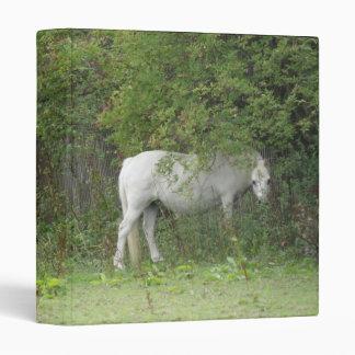 Shy White Horse Photograph Album 3 Ring Binder