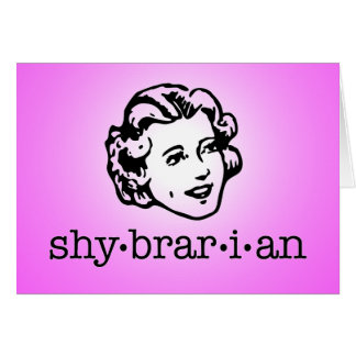 Shybrarian (with face) card