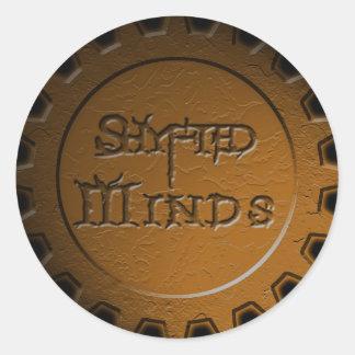 Shyfted Minds gear sticker (orange/bronze)