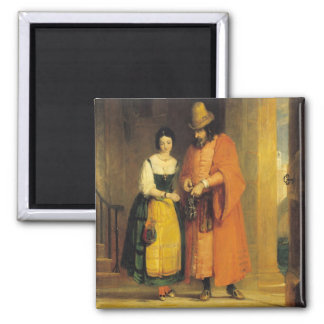 Shylock and Jessica from 'The Merchant of Venice', Magnet
